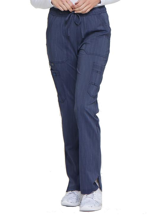 Pewter Dickies Scrubs Advance Tapered Leg Rib Knit Waist Pant DK165 PWTT