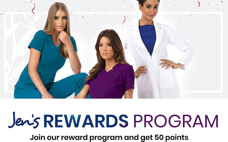 Jen's Scrubs Rewards Program