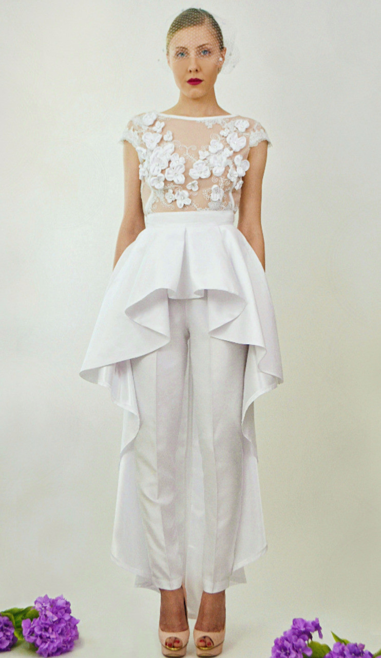 Wedding Jumpsuit The Giselle Two Piece By Daniela Tabois