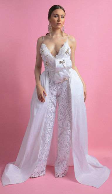 Lilly Wedding Jumpsuit Front