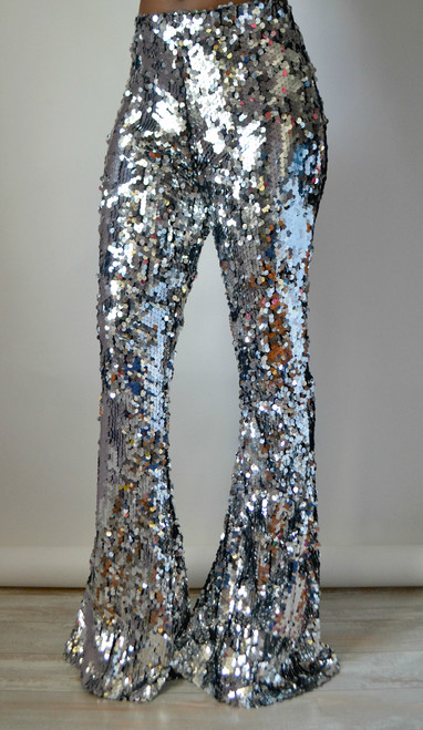 Sequin Flare Pants (Front)