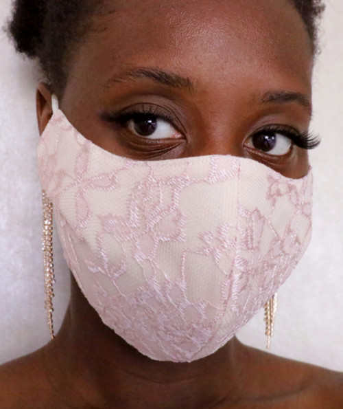 Mauve Lace Face Mask