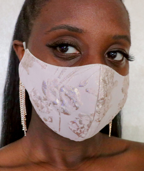 Floral Brocade Face Mask