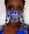 Women's Royalty Blue Adjustable Lace bead lanyard Face Mask