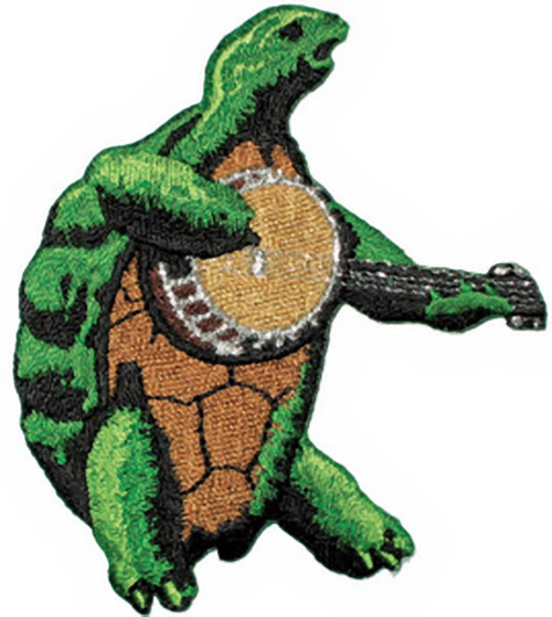Grateful Dead Iron-On Patch Banjo Terrapin