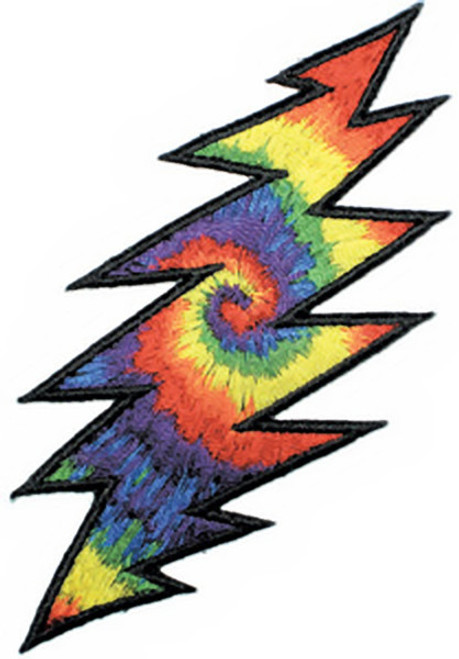 Grateful Dead Iron-On Patch Lightning Bolt