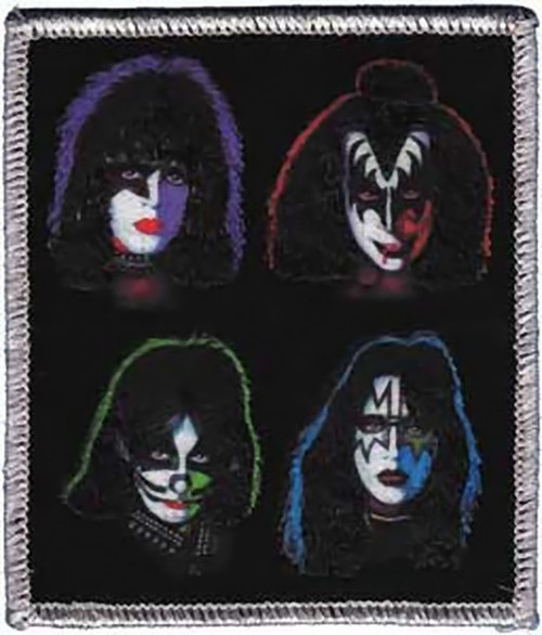 Kiss Iron-On Patch Four Heads Logo