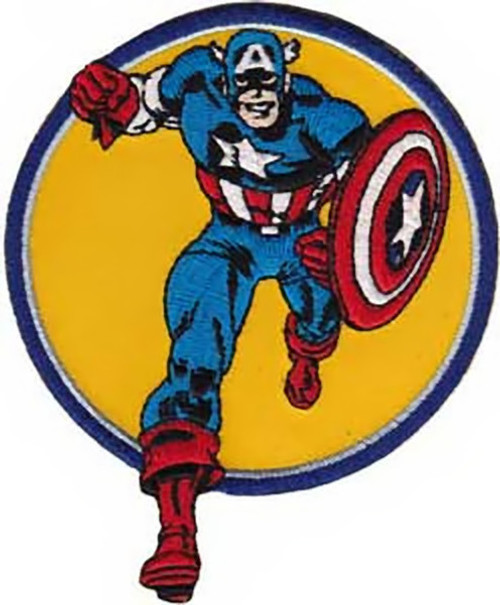 Captain America Iron-On Patch Round Run
