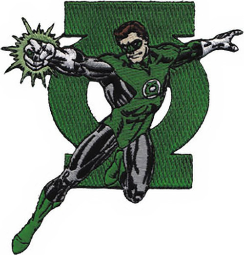Green Lantern Iron-On Patch Figure Logo