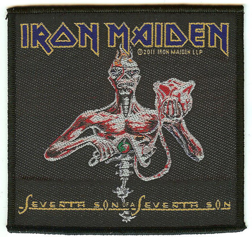 Iron Maiden Sew On Patch Seventh Son Of A Seventh Son