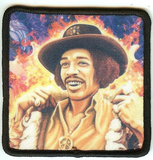 Jimi Hendrix Iron-On Patch Fur Coat