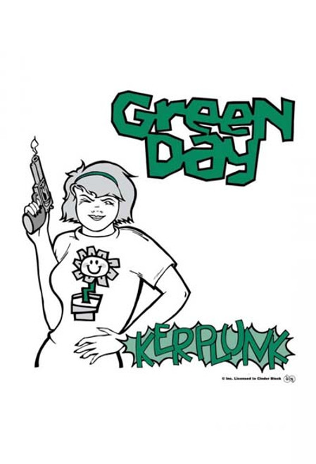 Green Day Poster Flag Kerplunk Logo