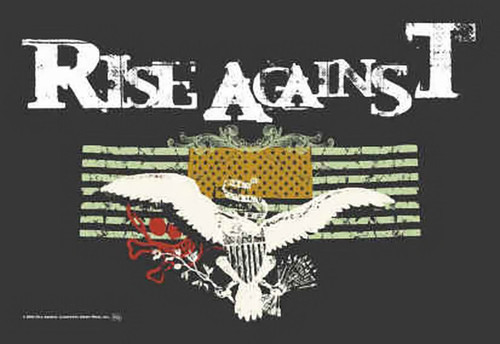 Rise Against Poster Flag Double Flags Logo