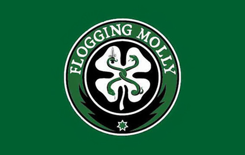 Flogging Molly Poster Flag Green Shamrock Logo Tapestry