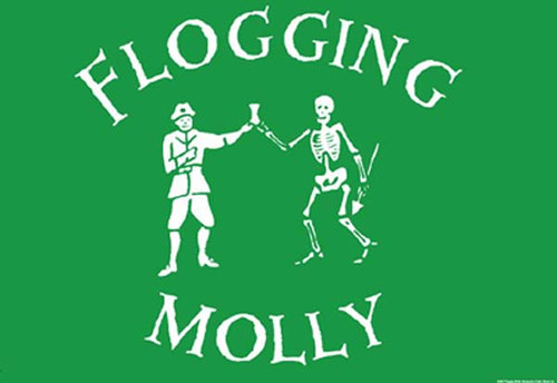 Flogging Molly Poster Flag Skeleton Drink Logo Tapestry