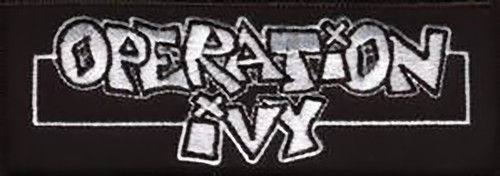 Operation Ivy Iron-On Patch Letters Logo