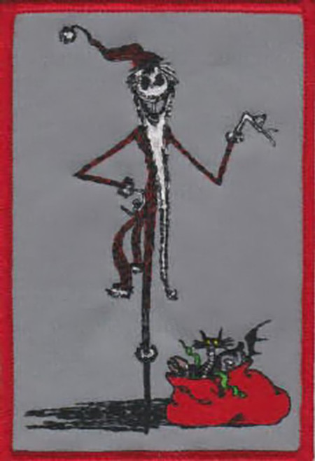 Nightmare Before Christmas Iron-On Patch Santa Jack