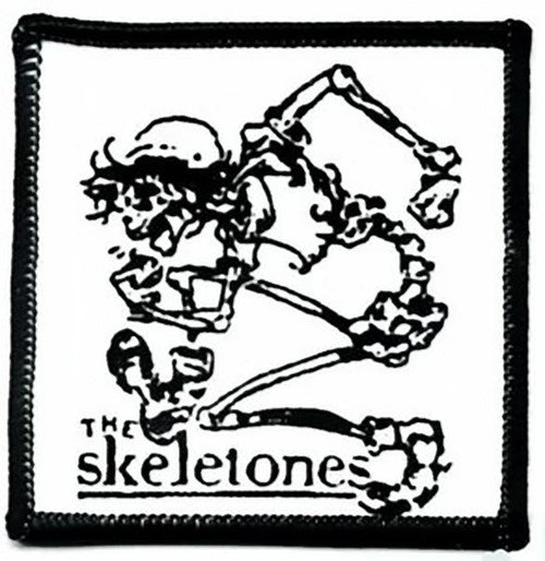 The Skeletones Iron-On Patch Skeleton Logo