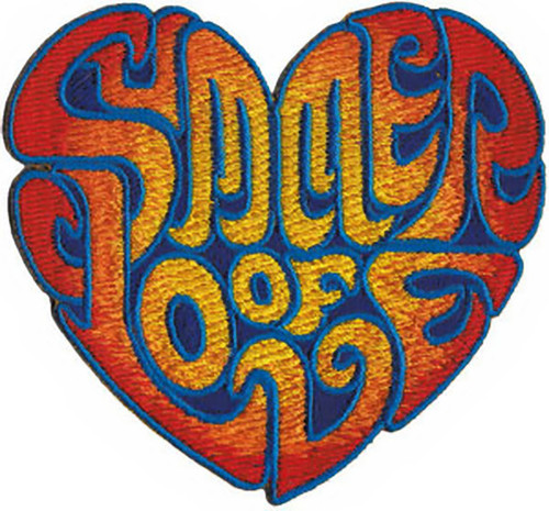 Summer Of Love Iron-On Patch Heart Logo