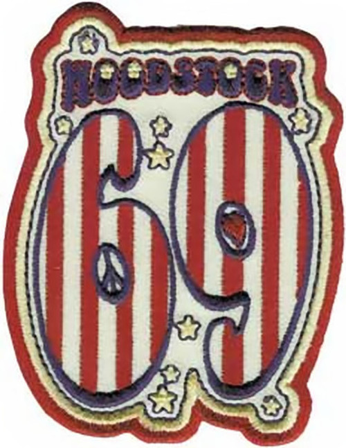 Woodstock Iron-On Patch 69 Logo