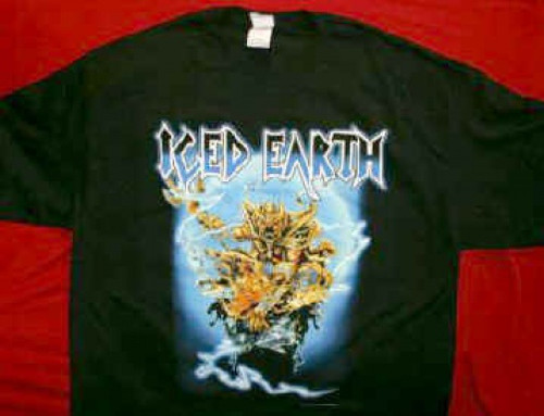 Iced Earth T-Shirt The Watcher Black Size Medium
