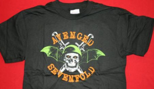 Avenged Sevenfold T-Shirt Death Bat Skull Black Size Medium
