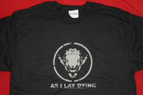 As I Lay Dying T-Shirt Sheep Logo Black Size Medium