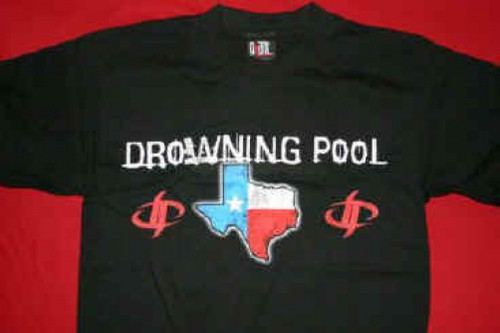 Drowning Pool T-Shirt Texas Redneck And Evil Black Size Large