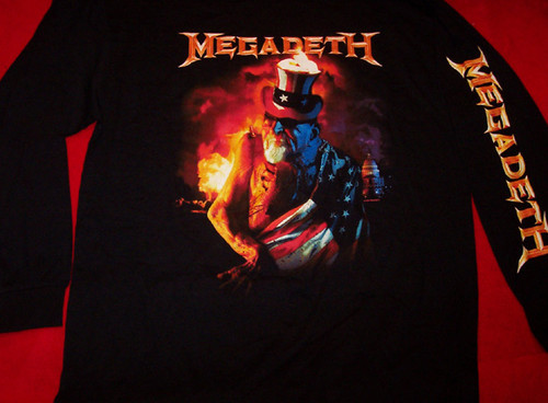 Megadeth Long Sleeve T-Shirt Uncle Sam Black Size Small