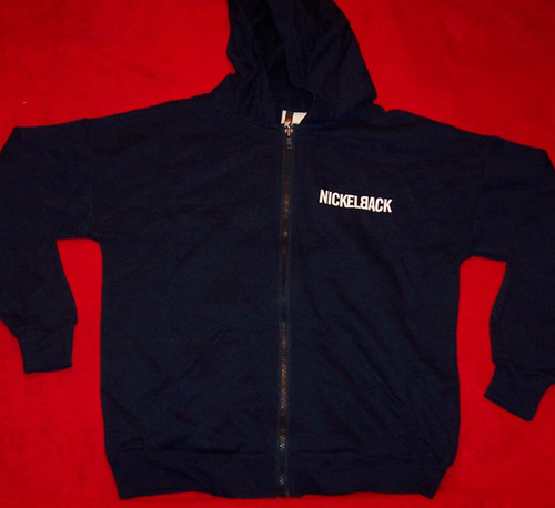 Nickelback Hoodie Sweatshirt World Tour Navy Blue Size Youth Large