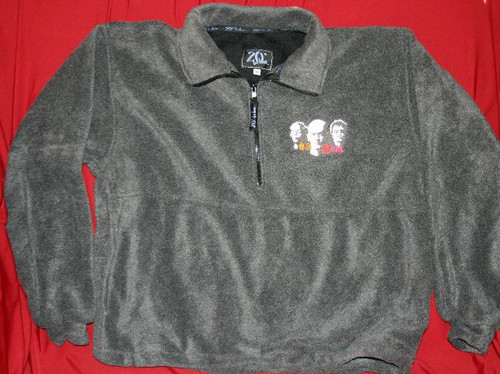 REM Embroidered Fleece Pullover Gray Size Medium