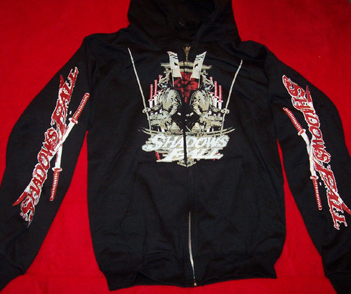 Shadows Fall Hoodie Sweatshirt Warriors Logo Black Size Small