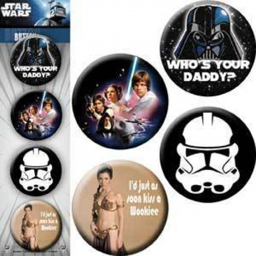 Star Wars Four Button Pin Set