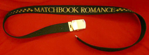 Matchbook Romance Black Army Belt Letters Logo