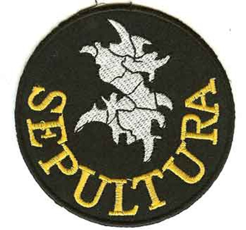 Sepultura Iron-On Patch Circle Letters Logo