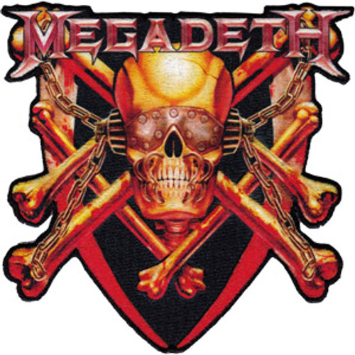 Megadeth Iron-On Patch Skull And Bones Logo