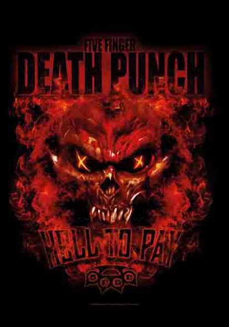 Five Finger Death Punch Poster Flag Hell To Pay