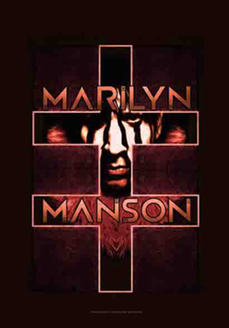 Marilyn Manson Poster Flag Cross