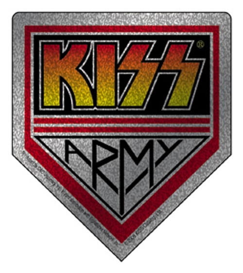 Kiss Army Vinyl Sticker Glitter Logo