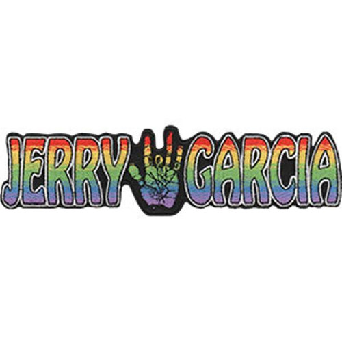 Jerry Garcia Iron-On Patch Hand Letters Logo