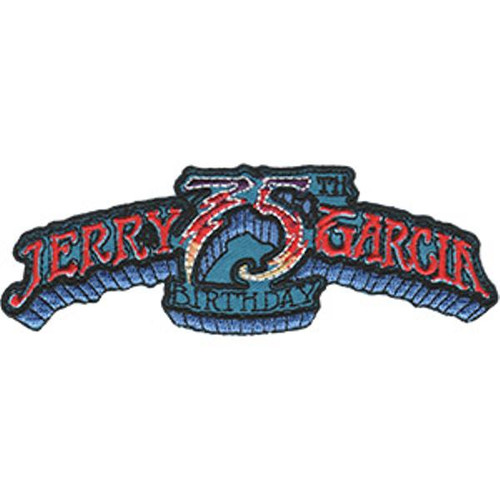 Jerry Garcia Iron-On Patch 75th Birthday Letters Logo