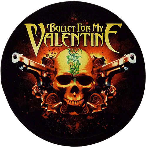 Bullet For My Valentine Sew On Canvas Back Patch Round Pistols Logo
