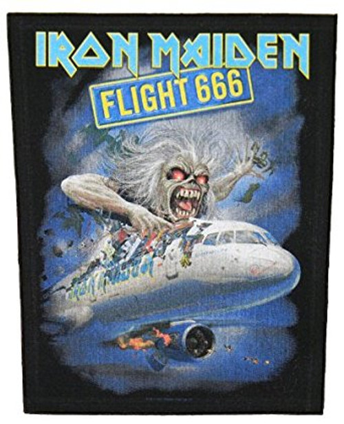Iron Maiden Sew On Canvas Back Patch Flight 666 Logo