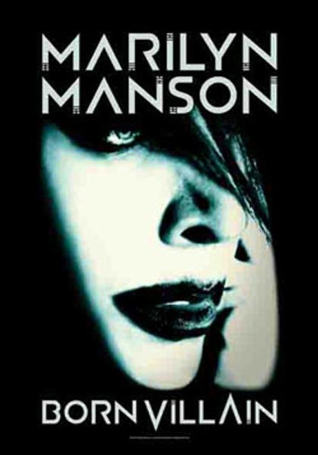 Marilyn Manson Poster Flag Born Villain