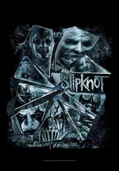 Slipknot Poster Flag Broken Glass