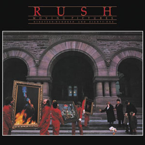Rush Vinyl Sticker Square Moving Pictures Logo