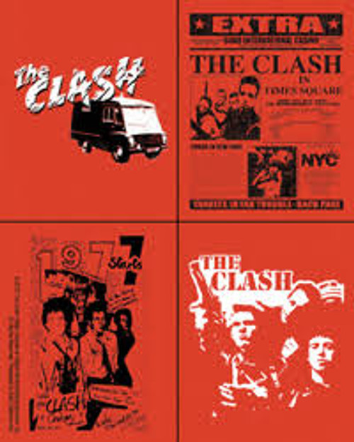 The Clash Vinyl Sticker Set Four Mini Stickers