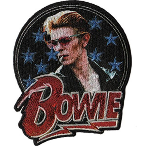 David Bowie Iron-On Patch Stars Logo