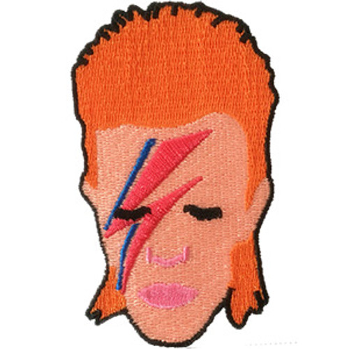 David Bowie Iron-On Patch Aladdin Sane Face