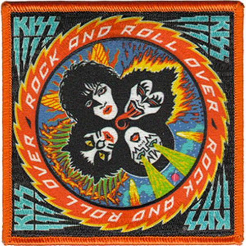 Kiss Iron-On Patch Large Rock And Roll Over Logo
